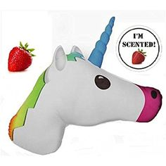 Emojicon Unicorn Pillow ** Want additional info? Click on the image. (This is an affiliate link) #PlushPillows