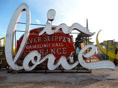 'In Love' sign in the Neon Boneyard, Las Vegas