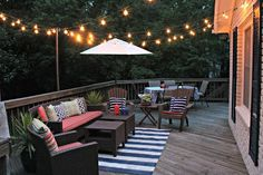 This is the solution for to how to hang my string lights on our deck! LOVE it!!