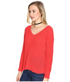 BB Dakota Zona Soft V-Neck Sweater Grey - Zappos.com Free Shipping BOTH Ways
