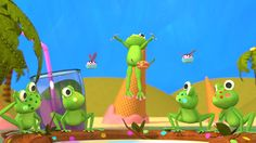 Five Little, Frogs, Yoshi, Dinosaur Stuffed Animal, Watch, Youtube, Fictional Characters, Animals, Animales