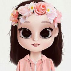Cute Girl Drawing, Cartoon Girl Drawing, Cartoon Drawings, Cartoon Art, Girly Drawings, Kawaii Drawings, Cute Cartoon Girl, Cute Girl Wallpaper, Drawings Of Friends