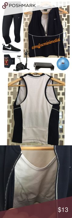 Nike work-out top Near new! - built in bra - zipper enclosure - no holes, rips, tears, pulls, stains - take this top with you for whatever workout your little ❤️ desires! *item as described only - add'l items pictured only for fitting inspiration - please ask all questions before purchase* Nike Tops Muscle Tees