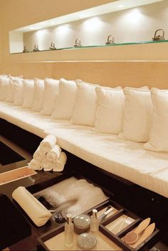 Pedicure area. How I wish I had this luxurious of a home!