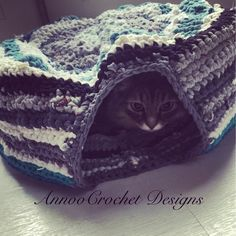 Cat's Up-cycled Crochet Home Free Tutorial By AnnooCrochet Designs