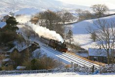 Snow & Steam at Kirkby Stephen.