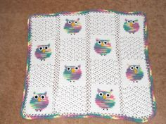 Crocheted Owl Baby Afghan by thecrafter on Etsy