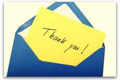 Writing a professional thank-you note.