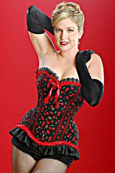 Meschantes Red Cherry Pin-up Corset Your Size