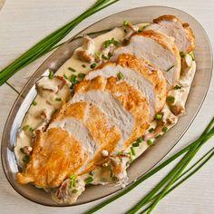 Pierś kurczaka w sosie kurkowym przepis - zjem to blog kulinarny