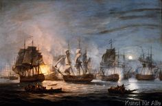 Thomas Luny - The Battle of the Nile, August 1st 1798