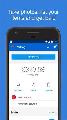 eBay - Buy, Sell & Save Money- screenshot Ecommerce App, Google Play, Saving Money, Ebay, Electronics, Drinks, Shop, Fashion, Festivals