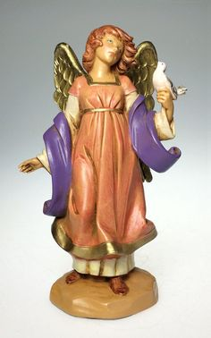 Vintage, Fontanini, 5 Scale, Celeste, Nativity Figurine.  Dated 1997, this piece has typically remarkable, Fontanini detail. Condition is Excellent, with no chips, cracks, breaks, or repairs. Complete w Box and Story Card.  Hand Signed by Sculptor  Has Fountain Mark.  Please See Photos to Fully Appreciate.  A Lovely addition to Any Nativity or Fontanini Collection.
