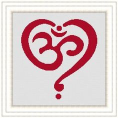 OM HEART meditation zen  symbol Counted by LudivinePointDeCroix