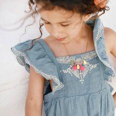 Celeste Embroidered Playsuit   Louise Misha