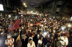 Saldo blanco al término de la marcha estudiantil en solidaridad con caso Ayotzinapa
