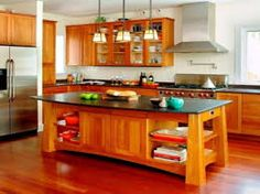 Image result for arts and crafts kitchen island