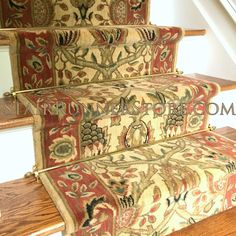 Stair runner carpet, custom stair runners, Grand Parterre, woven of New Zealand wool, diverse sophisticated large scale transitional stair carpet. Transitional Design, Stairs, Decor, House Styles, Nourison, Patterned Carpet, Stair Runner, House Interior, Hallway Decorating
