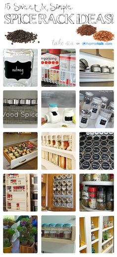 15 Sweet & Simple Spice Rack Ideas | curated by 'Take Six' blog!