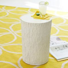 A Work In Progress Tree Stump Table House Decorations Pinterest - White tree stump side table
