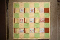 """[Free] Puzzle quilt for children & parents/caretakers, as seen on """"Craftsy,"""" designed by '3patch' (Europe)."""