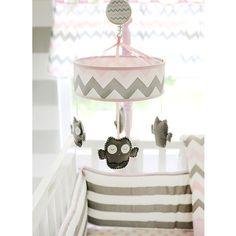 My Baby Sam Chevron Mobile, Pink/Gray
