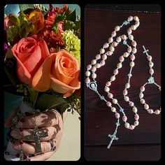 Www.memorialrosaries.com  - customized, personal rosaries and chaplets ect. Hand crafted from your dried flowers , great for multiple occasions I.E births, communions, prom, graduation, holidays, confirmations, anniversaries, weddings, and wakes/funerals.  Rosaries - $85 Chaplet - $55  * available in any color, can be matched to a swatch or picture! Also see jewelry options at www.honoredlovejewelry.com
