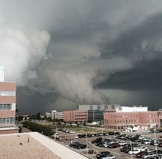 May 21, 2014 - via Anthony Quintano on Twitter - This photo of tornado warned storm in CO was taken the Anschutz Medical Campus at the University of Colorado