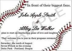 baseball wedding invitation ideas   Baseball Digital Wedding Invitation by HeAskedSheSaidYes on Etsy, $35 ...