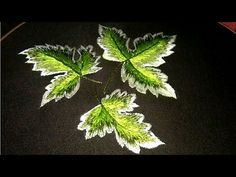 Hand embroidery 🍁 maple leaf tutorial for bed sheets or cushion cover