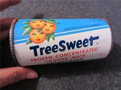 Vintage TreeSweet Tin of Frozen Orange Juice
