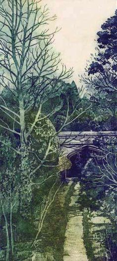 """""""Old Coach Road, Helens Bay"""" - large collagraph print 17 x 35 inches x Debra Wenlock Landscape Drawings, Landscape Prints, Contemporary Landscape, Collagraph Printmaking, Life Paint, Gravure, Print Artist, Places To Visit, Illustration Art"""