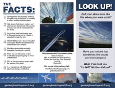 geo enginering is resposible for: weather manipulation,sky darkening, deforestation,air pollution,soil contamination Climate Engineering, Clear Blue Sky, Your Sky, Sky Art, Conspiracy Theories, Air Pollution, Global Warming
