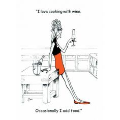 I love cooking with wine.Occasionally I add food. Christmas Cartoons, Christmas Humor, Cartoon Memes, Funny Cartoons, Funny Humor, Photo Quotes, Picture Quotes, Wine Meme, Alcohol Humor