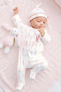Buy Three Pack Happy Bunny Bright Sleepsuits (0mths-2yrs) online today at Next: United States of America
