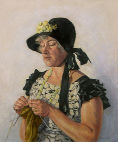 Must've whipped it out of her handbag. Marjorie Naylor - Portrait of Mrs. Perrine Moncreiff*