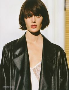 Sam Rollinson by Alaisdair McLellan for Self Service Issue 39 | The Fashionography #bob with #bangs