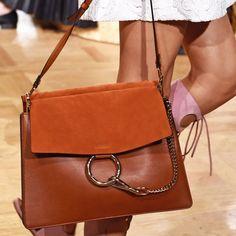 Spring 2015's Top Handbag Trends | The Zoe Report Chloe Latest Handbags, Fall Handbags, Fashion Handbags, Purses And Handbags, Fashion Bags, Trendy Purses, Bags 2017, Chloe Bag, Leather Crossbody