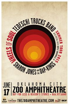 Tedeschi Trucks Band Wed - Jun 17 Zoo Amphitheatre Oklahoma City, OK WHEELS OF SOUL SUMMER TOUR SHARON JONES AND THE DAP-KINGS DOYLE BRAMHALL II Tickets on sale FRI 4/10 at 10am Buy For Less locations in OKC Reasor's and Starship Records in Tulsa Charge by phone @ 866.977.6849 online @ protix.com VIP Seated $79.50 Gold Circle Seated $59.50 Lawn Advance $39.50 Lawn Day of Show $45 ***KIDS UNDER 12 FREE*** Gates open at 5pm All ages welcome