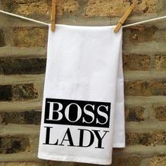 Boss Lady Kitchen Towel