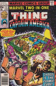Marvel Two In One #42 Very Good/Fine $1.50 ~ With Captain America!