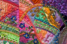 So want to make a crazy quilt - so beautiful