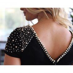 Sencillo y delicado, fácil técnica para #reciclar prendas aburridas #perlas