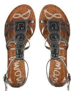 Jeweled sandal. Sam Edelman.
