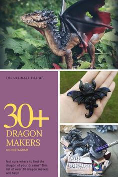 Looking for a dragon clay sculpture? Need help finding the dragon sculpture of your dreams? This list of over 30 dragon makers will help! Beautifully handcrafted dragons such as the ones in this pin's picture (from Bella Enchanted Studios, My Sunkissed St Make A Dragon, Clay Dragon, Dragon Art, Polymer Clay Projects, Polymer Clay Art, Beautiful Dragon, Wings Of Fire, Boutique Etsy, Adult Crafts