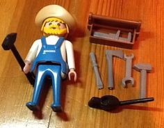 Rare-Vintage-Playmobil-Western-Railway-Colorado-Springs-Windmill-3765