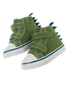 Dino Spikes High Top Sneaker    These are the cutest baby boy shoes ever!!!!!!