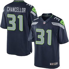 Nike Limited Kam Chancellor Navy Blue Men's Jersey - Seattle Seahawks #31 NFL Home