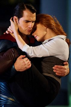 Amancanfly's 2016 New Year Countdown ↳ All About Henry Cavill 1/31: Henry Cavill and Miss Amy Adams on set of Batman v Superman.