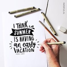 Summer where are you? You've only just begun and we miss you already!! #lettering #handlettering #typography #summer #paperfuel